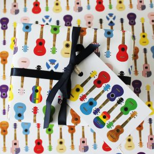 Ukulele Gift Wrap & Tags