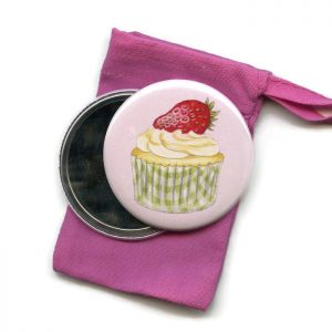 Strawberry Cupcake Pocket Mirror