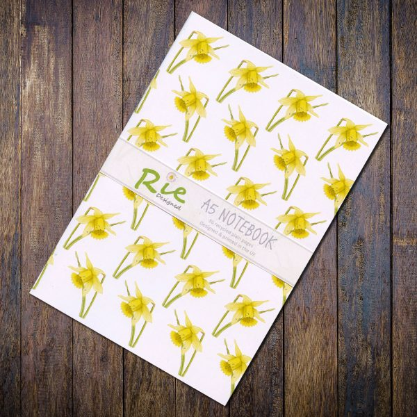 daffodil a5 recycled notebook