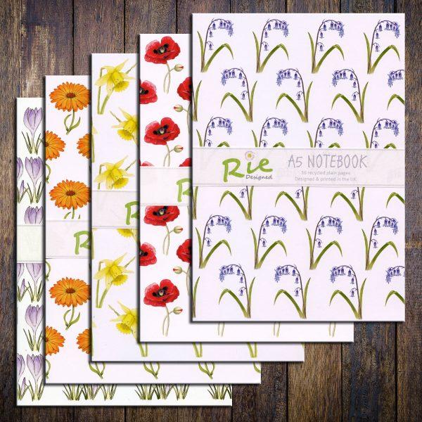 flower-notebook-set