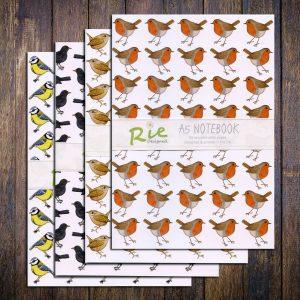 garden birds a5 notebook