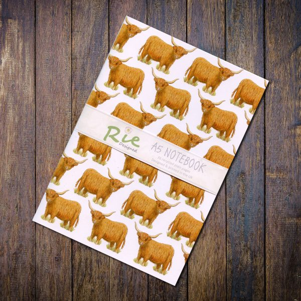 highland cow a5 notebook