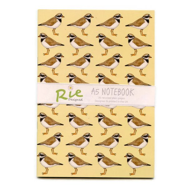 ringed plover A5 notebook