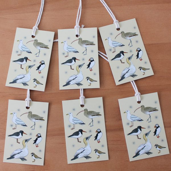 seabirds gift tags