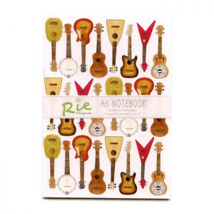 ukulele A5 recycled notebook