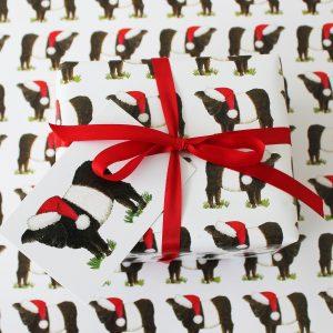 Christmas Beltie Gift Wrap