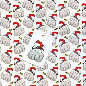 badger christmas gift wrap