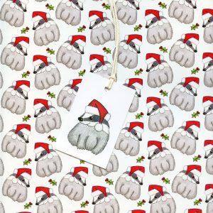badger christmas gift wrap