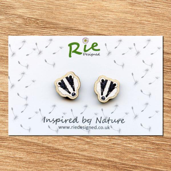 Badger Stud Earrings