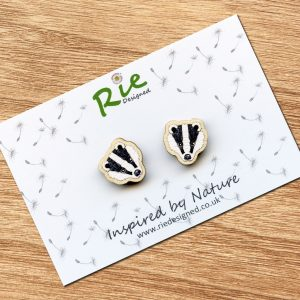 Badger Stud Earrings