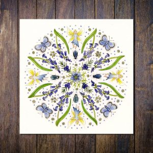 Blue Fairy Mandala Greetings Card