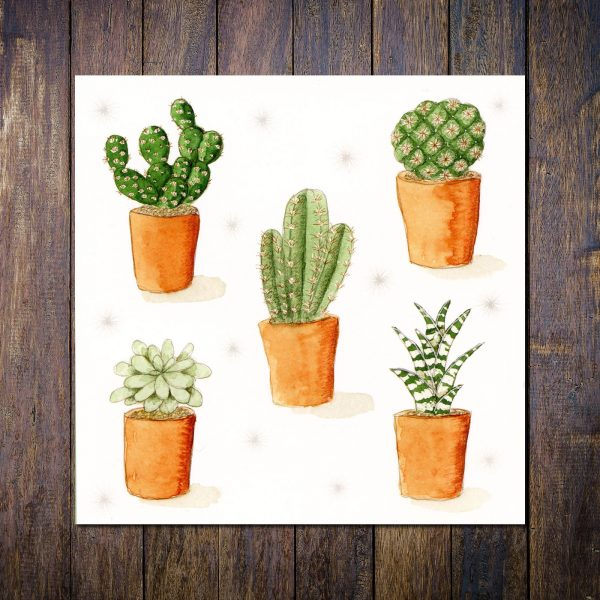 Cacti Greetings Card
