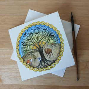 Celtic Forest Greetings Card