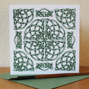 Celtic Weave Knot Greetings Card