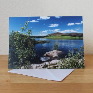 clatteringshaws loch photo card