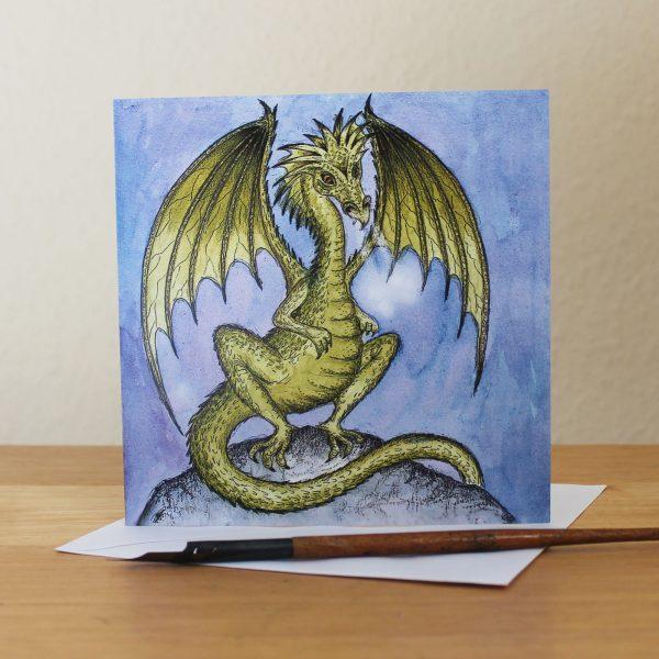 Green Dragon Greetings Card