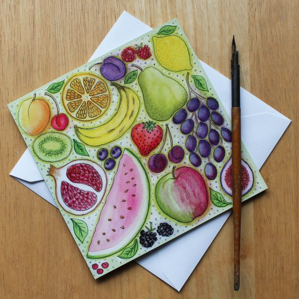 fruit greetings card