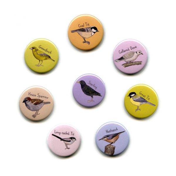 garden birds fridge magnets