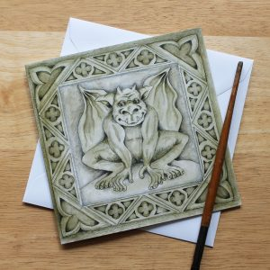 Gargoyle Blank Square Greetings Card
