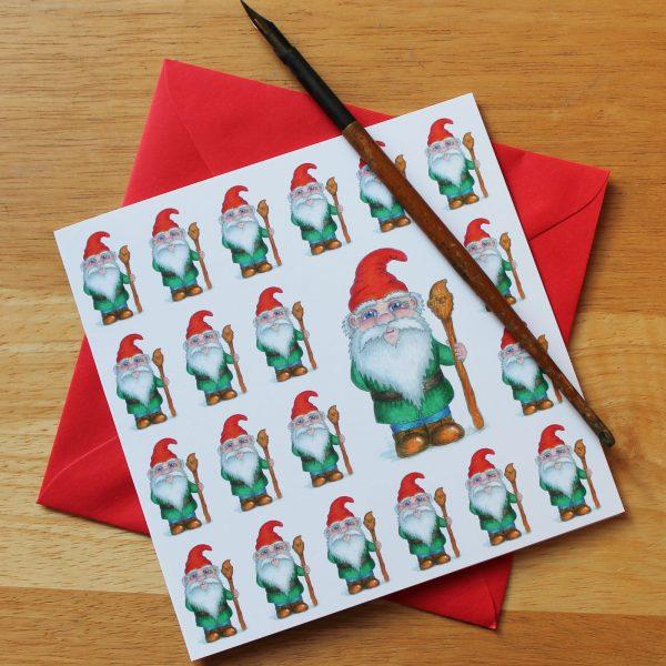 garden gnome greetings card