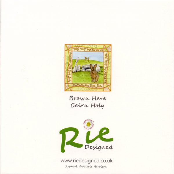 Hare cairn holy greetings card