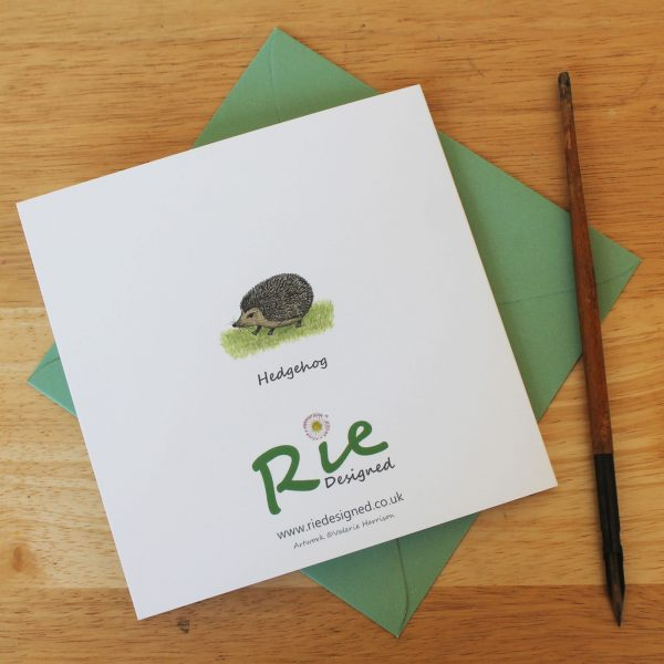 Hedgehogs Blank Square Greetings Card