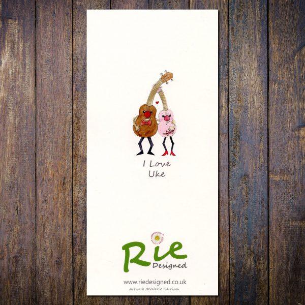I Love Uke ukulele card