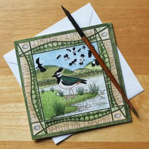 Lapwing mersehead greetings card