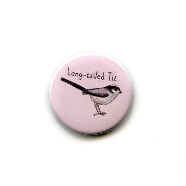 long tailed tit fridge magnet