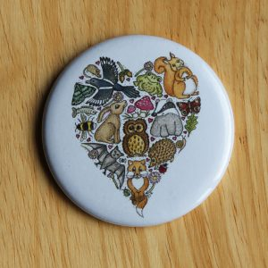 love nature pocket mirror