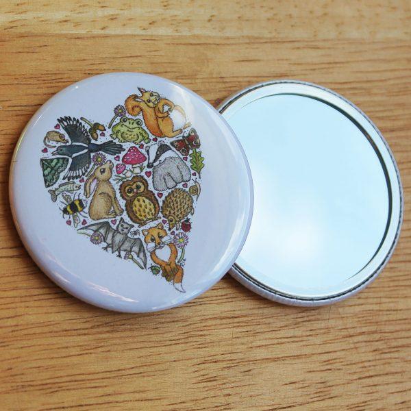 love nature pocket mirror