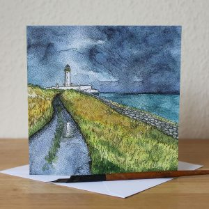 mull of galloway storm greetings card