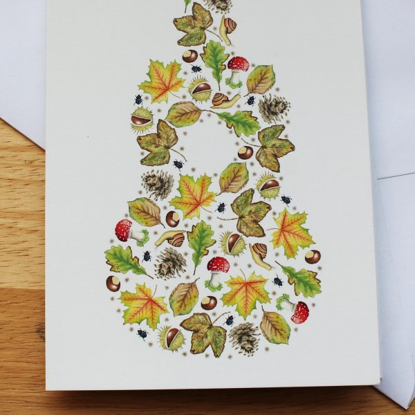 natural ukulele card