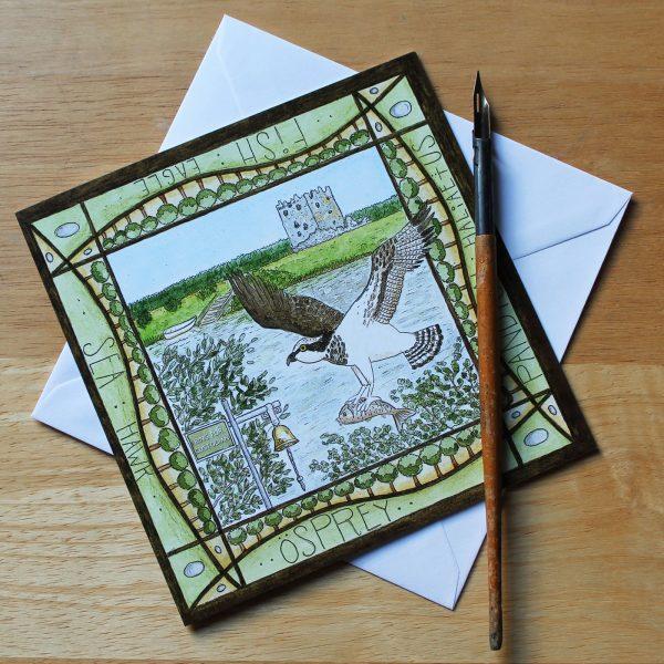 Osprey Threave Castle Greetings Card