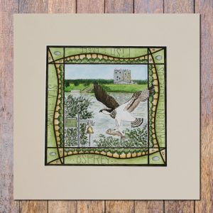 Osprey threave castle mounted print
