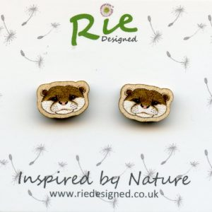 otter stud earrings