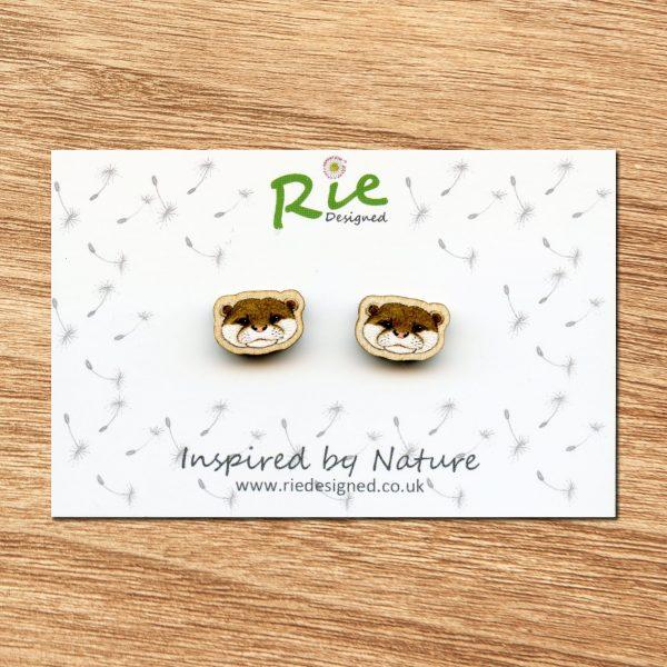 otter stud earrings