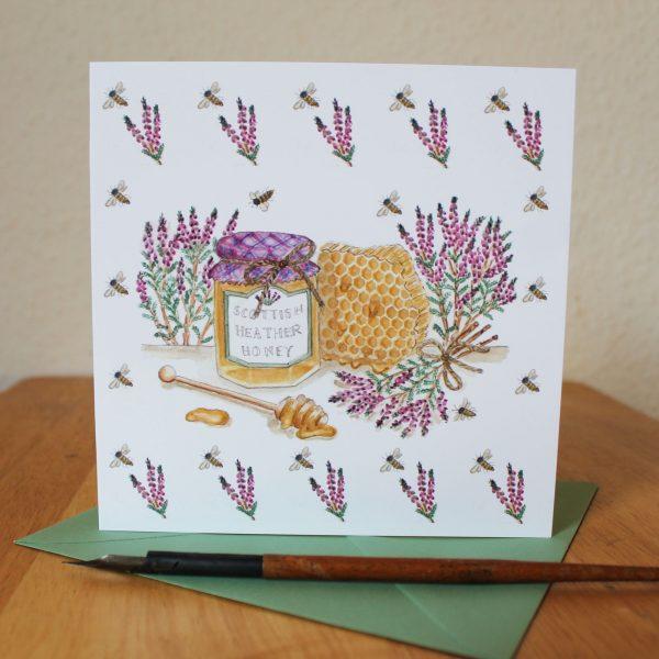 scottish heather honey greetings card