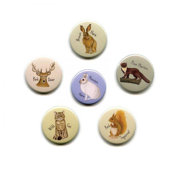 Scottish Mammals magnet set