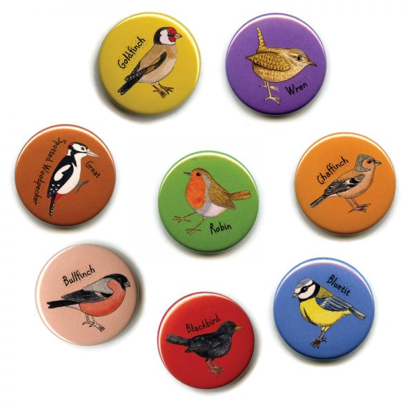 british garden birds fridge magnets