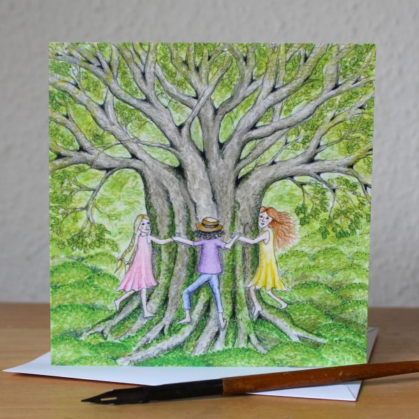 Tree Hugs Greetings Card