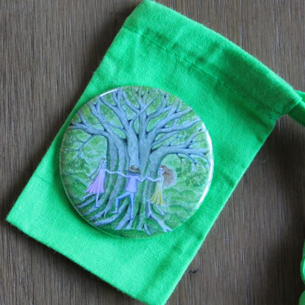 tree hugs pocket mirror