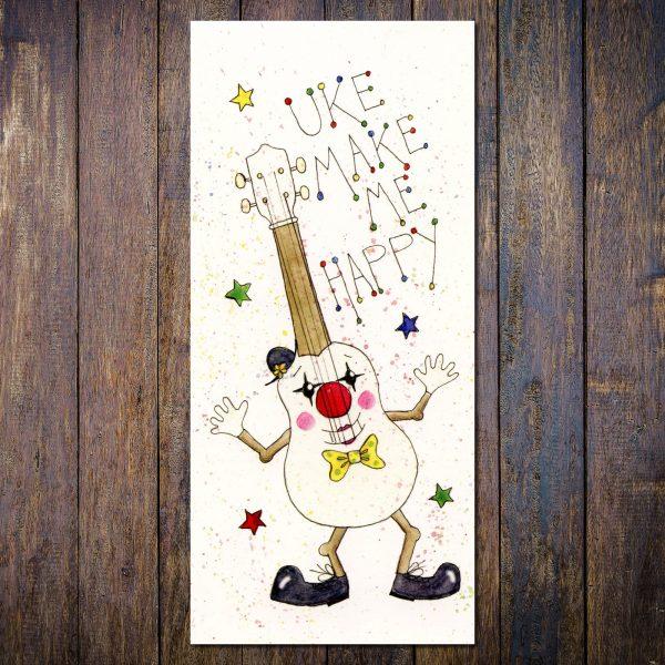 uke make me happy ukulele card