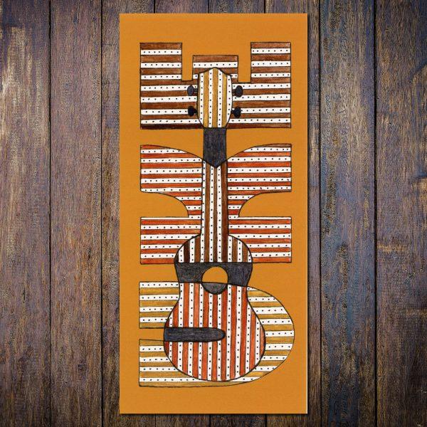 uke ukulele card