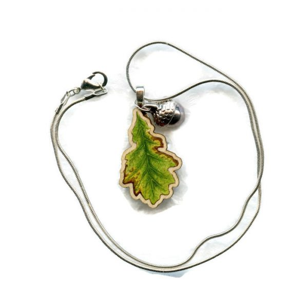 oak leaf pendant necklace