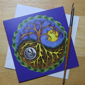 Yin & Yang Badger Card