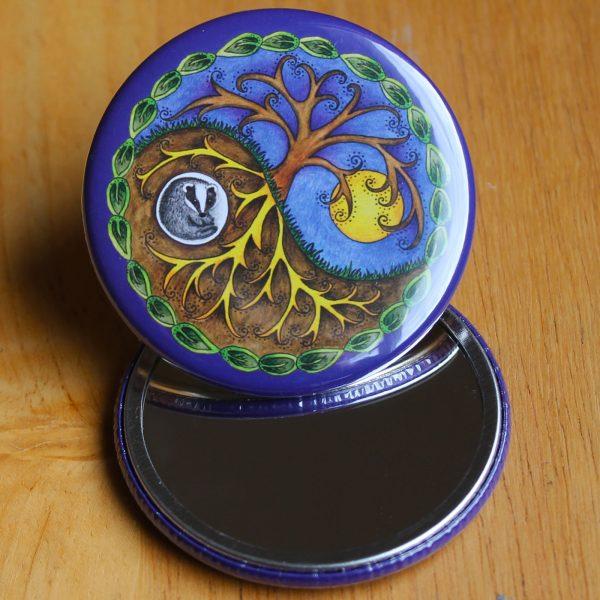 yin and yang pocket mirror