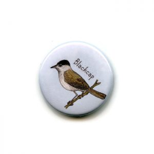 blackcap fridge magnet