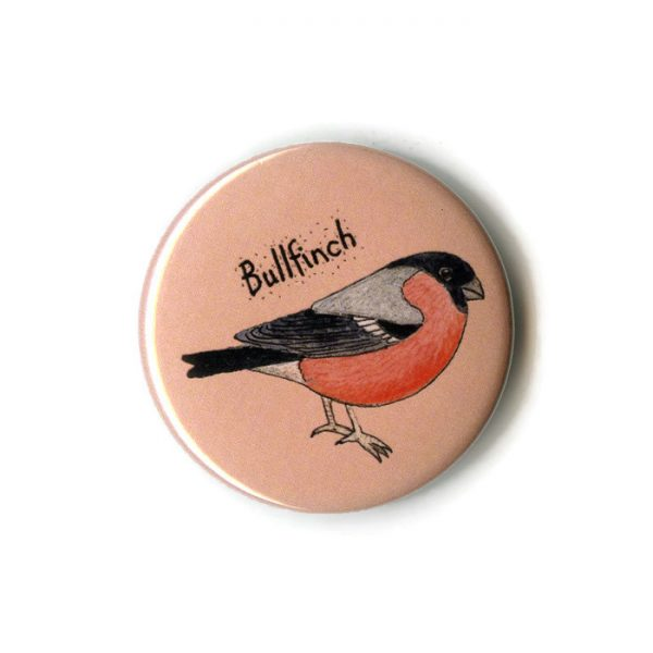 bullfinch fridge magnet