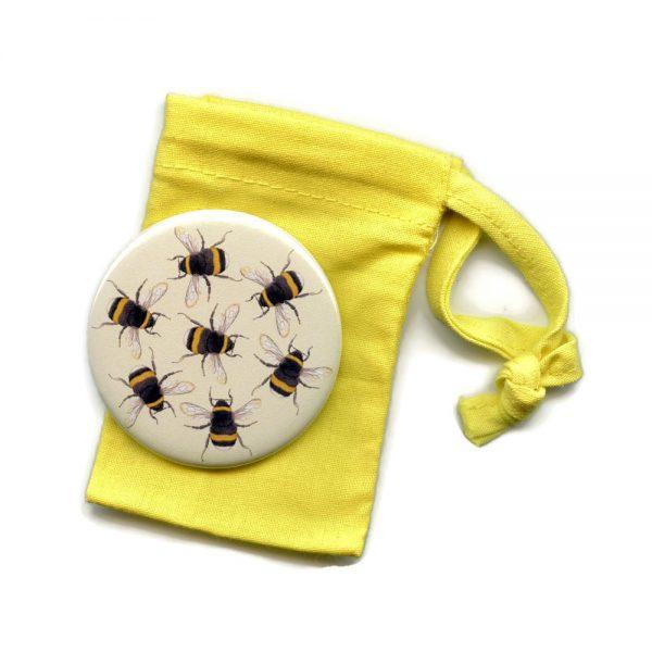 bumblebee pocket mirror